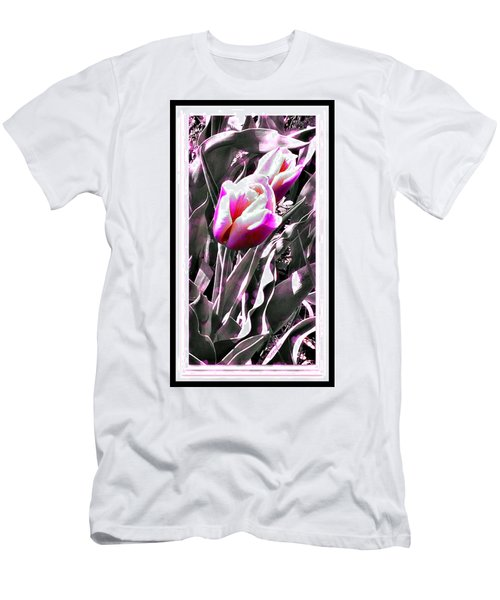 Tulip In Magenta Men's T-Shirt (Athletic Fit)