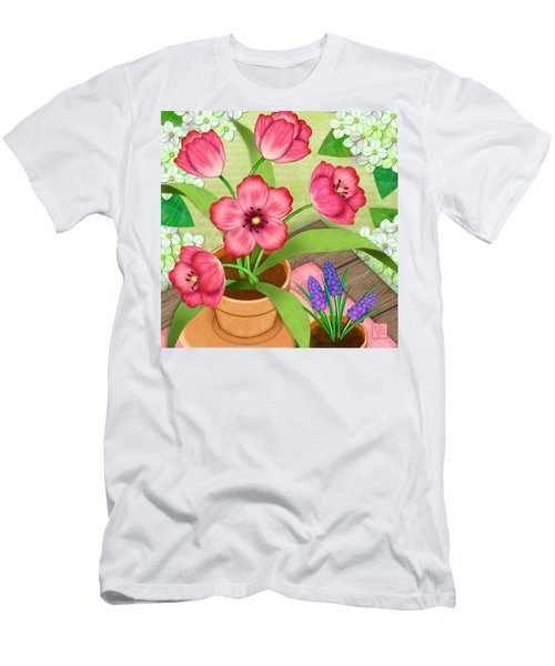 Tulips On A Spring Day Men's T-Shirt (Athletic Fit)