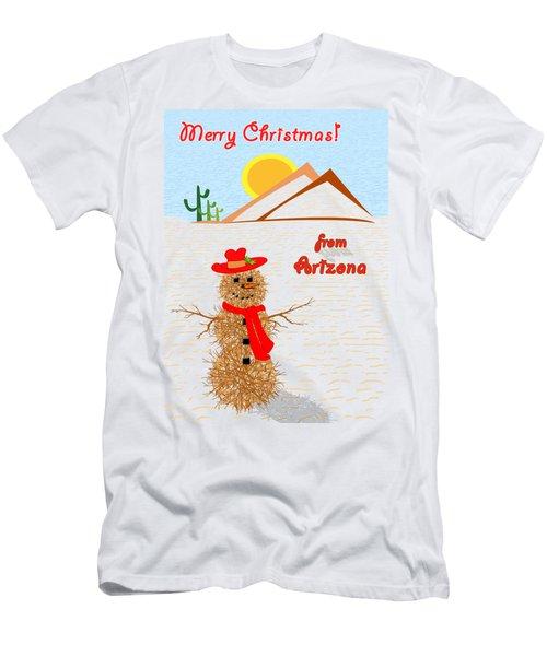 Arizona Tumbleweed Snowman Men's T-Shirt (Athletic Fit)