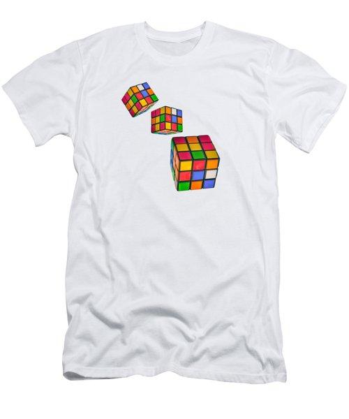 Tumbling Cubes Men's T-Shirt (Athletic Fit)