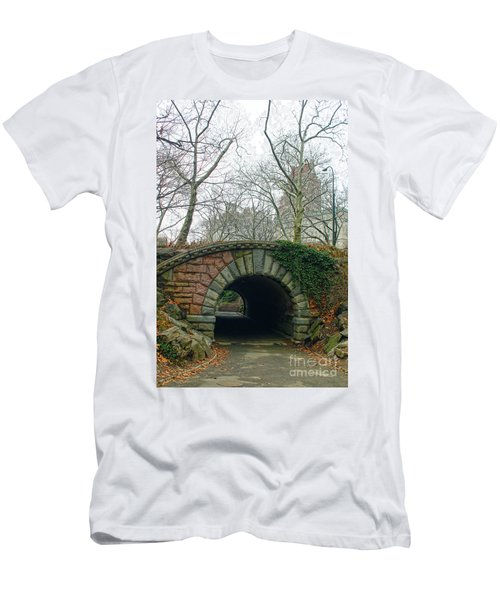 Men's T-Shirt (Slim Fit) featuring the photograph Tunnel On Pathway by Sandy Moulder