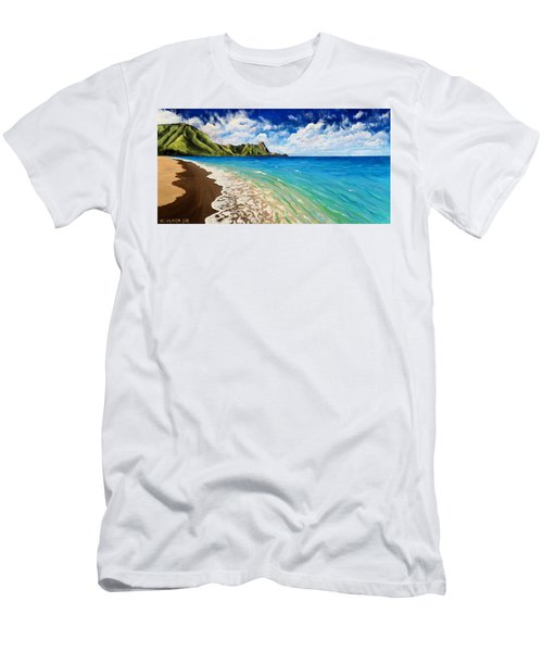 Tunnels Beach Men's T-Shirt (Athletic Fit)