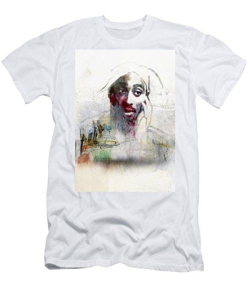 Tupac Graffitti 2656 Men's T-Shirt (Slim Fit) by Jani Heinonen