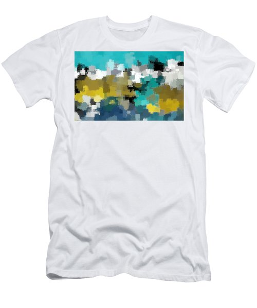 Turquoise And Gold Men's T-Shirt (Athletic Fit)
