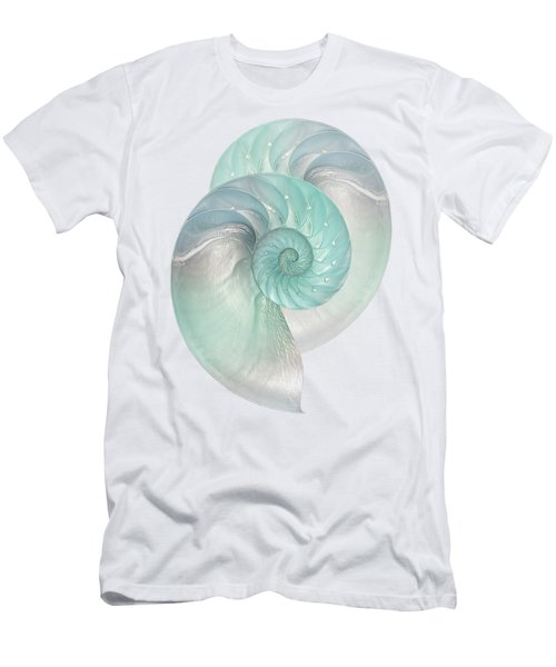 Turquoise Nautilus Pair Men's T-Shirt (Athletic Fit)