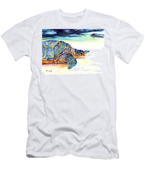Turtle At Poipu Beach 2 Men's T-Shirt (Athletic Fit)