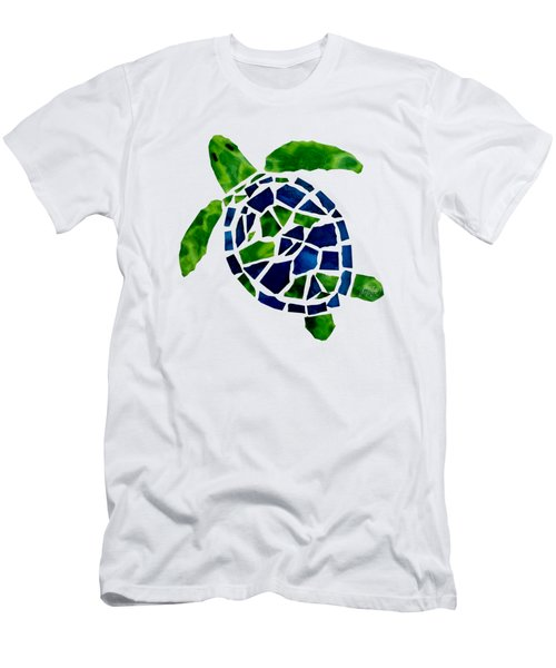 Turtle Mosaic Cut Out Men's T-Shirt (Athletic Fit)