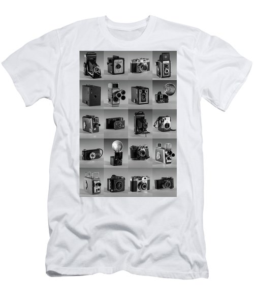 Twenty Old Cameras - Black And White Men's T-Shirt (Athletic Fit)