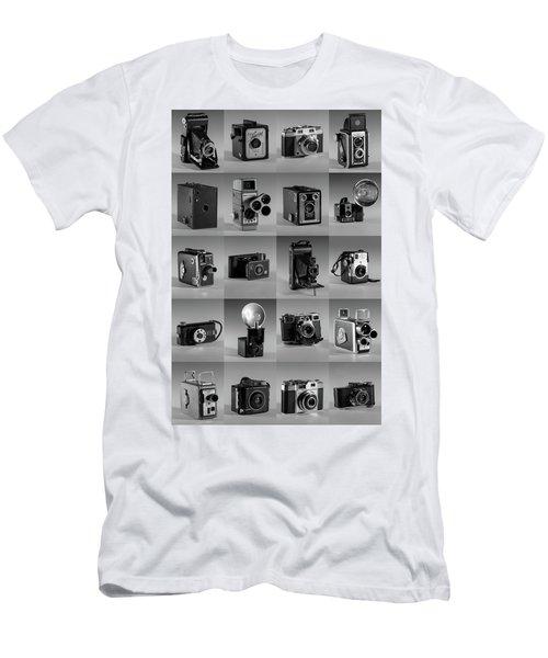 Twenty Old Cameras - Black And White Men's T-Shirt (Athletic Fit)