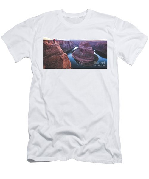 Twilight At Horseshoe Bend Men's T-Shirt (Slim Fit) by JR Photography