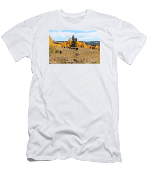 Twilight Fall Mountain Range In Colorado Men's T-Shirt (Athletic Fit)