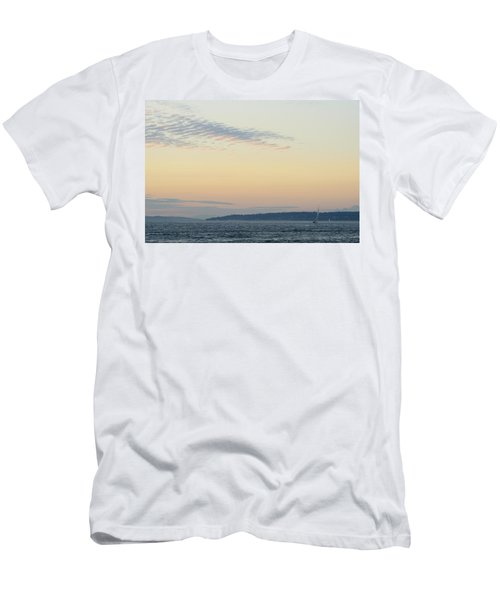 Twilight Moment In Puget Sound Men's T-Shirt (Athletic Fit)