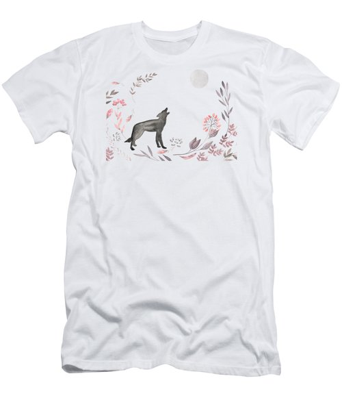Twilight Wolf Men's T-Shirt (Slim Fit) by Amanda Lakey