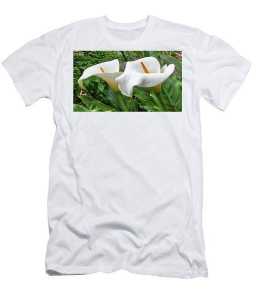 Twin Calla Lilies Men's T-Shirt (Athletic Fit)
