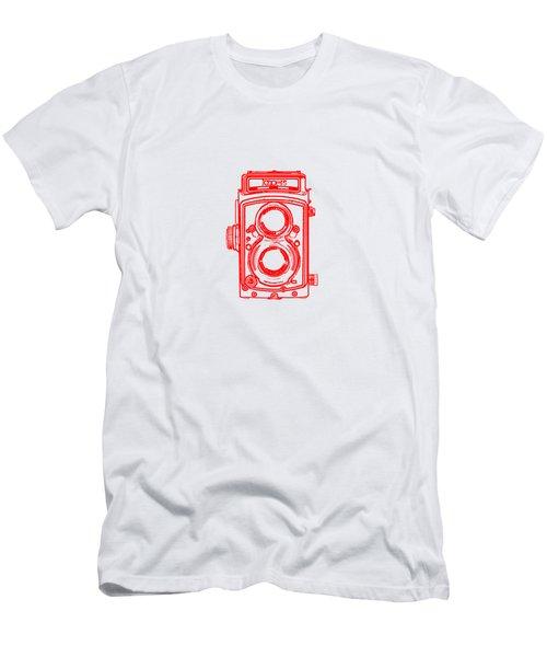 Twin Lens Camera Men's T-Shirt (Slim Fit) by Setsiri Silapasuwanchai