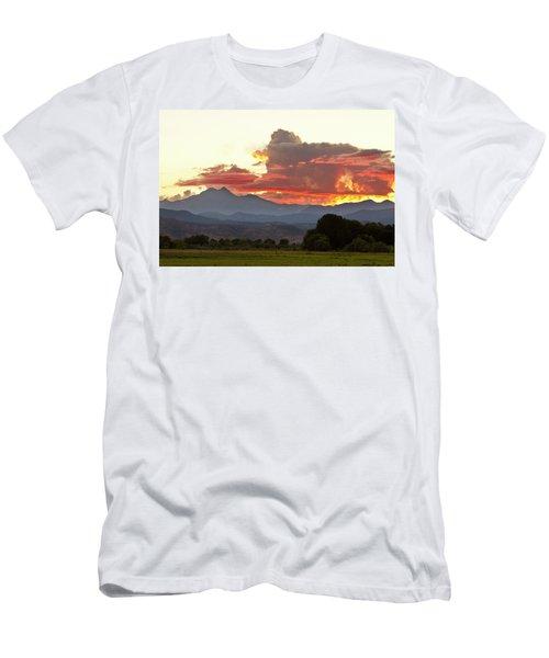 Twin Peaks Longs Meeker August Sunset 3 Men's T-Shirt (Athletic Fit)