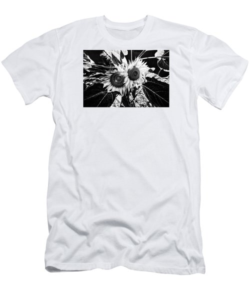Twin Sunflowers Men's T-Shirt (Slim Fit) by Kevin Cable