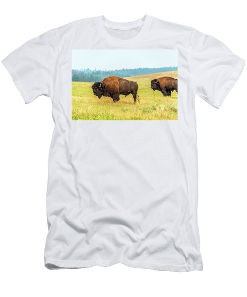 Two American Bison Men's T-Shirt (Athletic Fit)