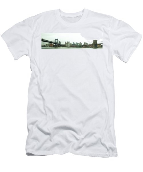 Men's T-Shirt (Athletic Fit) featuring the photograph Two Bridges by Robert Knight