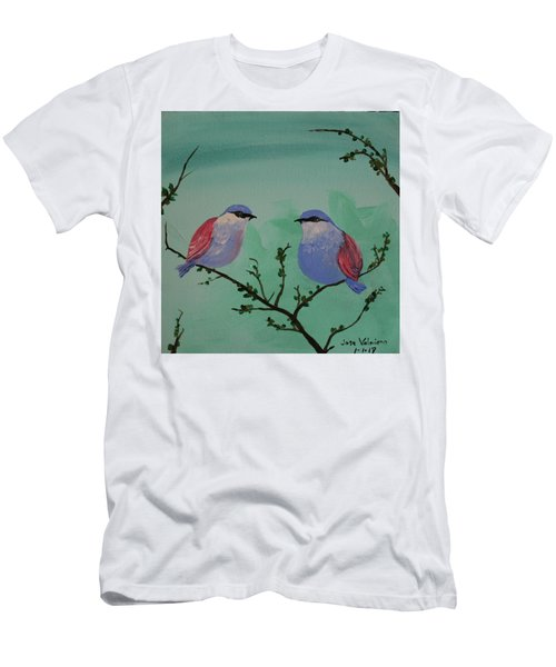 Two Chickadees Men's T-Shirt (Athletic Fit)