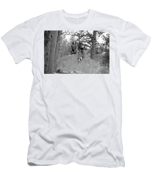 Two Men On A Boulder In The American West, 1972 Men's T-Shirt (Athletic Fit)