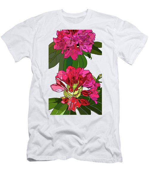 Two Rhododendrons Men's T-Shirt (Slim Fit) by Jamie Downs