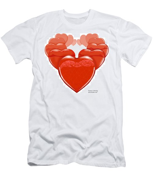 Two Hearts Become One Men's T-Shirt (Athletic Fit)