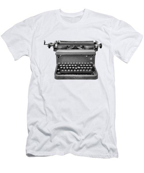 Typewriter Men's T-Shirt (Slim Fit) by Roger Lighterness