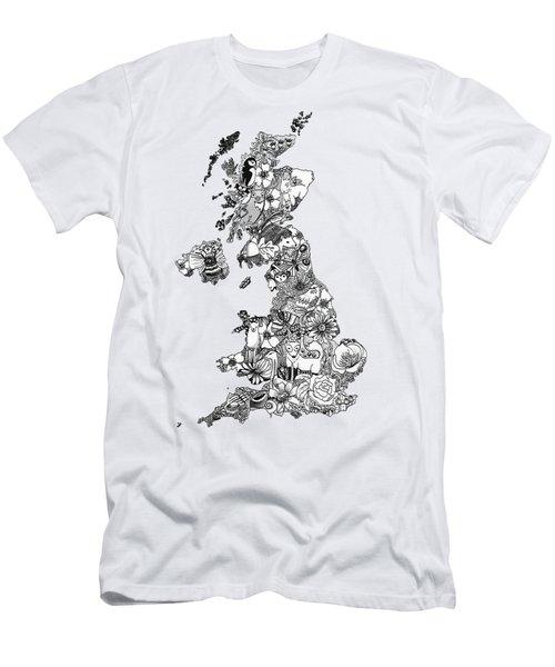 Uk Map Men's T-Shirt (Slim Fit)