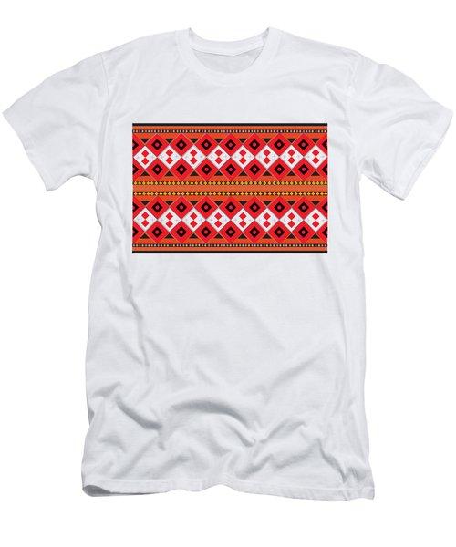Ukrainian Embroidery Horizontal Men's T-Shirt (Athletic Fit)