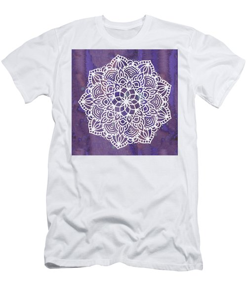 Ultraviolet Mandala Men's T-Shirt (Athletic Fit)