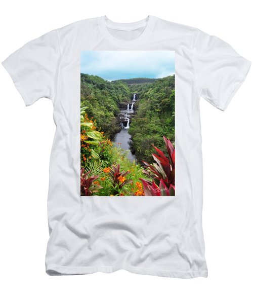 Umauma Falls Hawaii Men's T-Shirt (Athletic Fit)