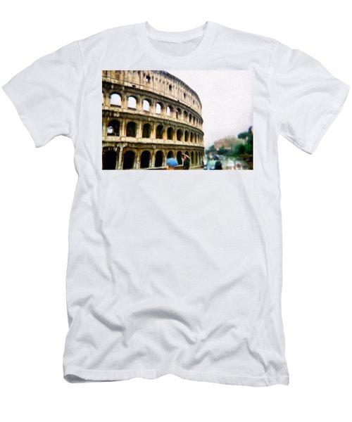 Under Pale Blue Umbrellas Men's T-Shirt (Athletic Fit)