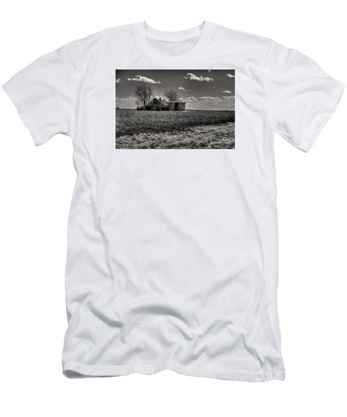 Men's T-Shirt (Slim Fit) featuring the digital art Under The Crush Of The Lowering Sky by William Fields