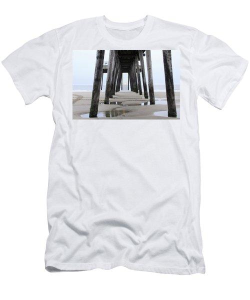 Men's T-Shirt (Slim Fit) featuring the digital art Under The Pier by Sharon Batdorf