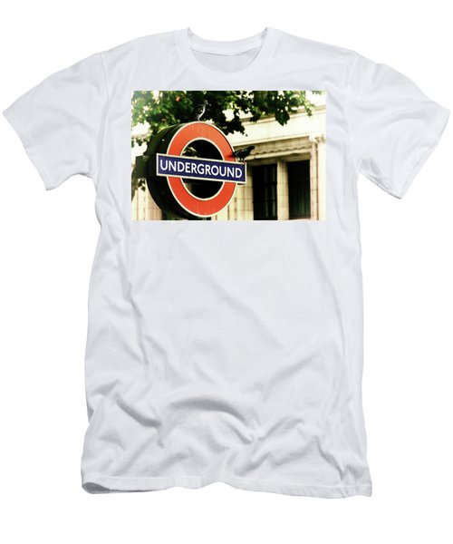 Men's T-Shirt (Athletic Fit) featuring the photograph Underground by Rasma Bertz