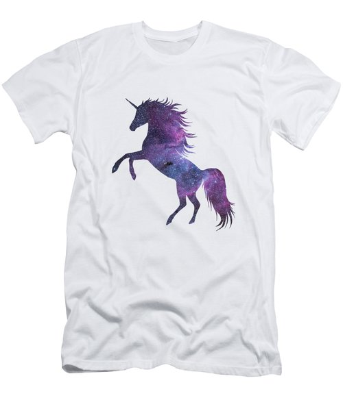 Unicorn In Space-transparent Background Men's T-Shirt (Athletic Fit)
