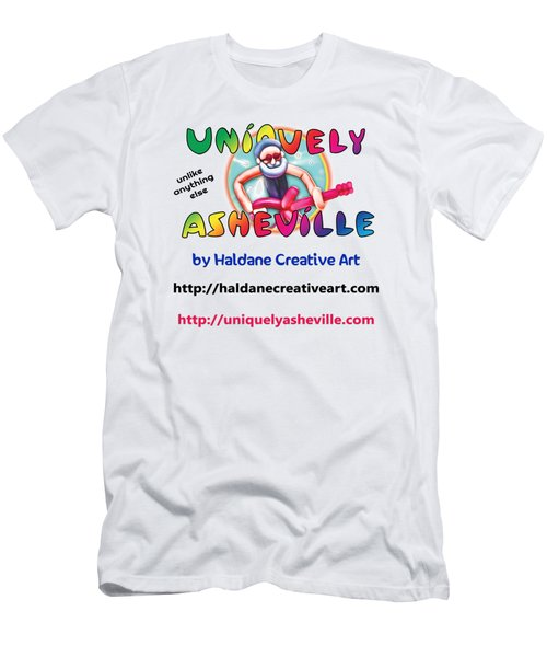 Uniquely Asheville Square Men's T-Shirt (Athletic Fit)