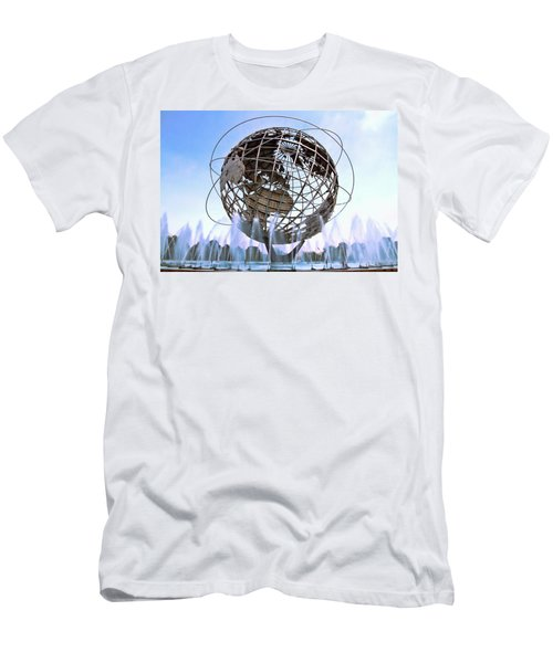 Unisphere With Fountains Men's T-Shirt (Athletic Fit)
