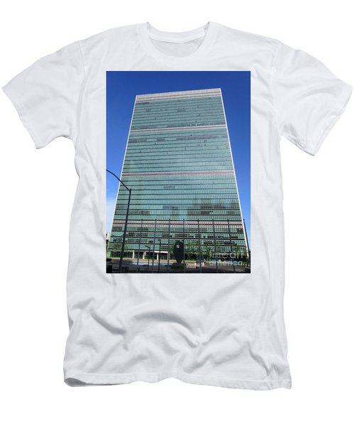 Men's T-Shirt (Slim Fit) featuring the photograph United Nations 3 by Randall Weidner