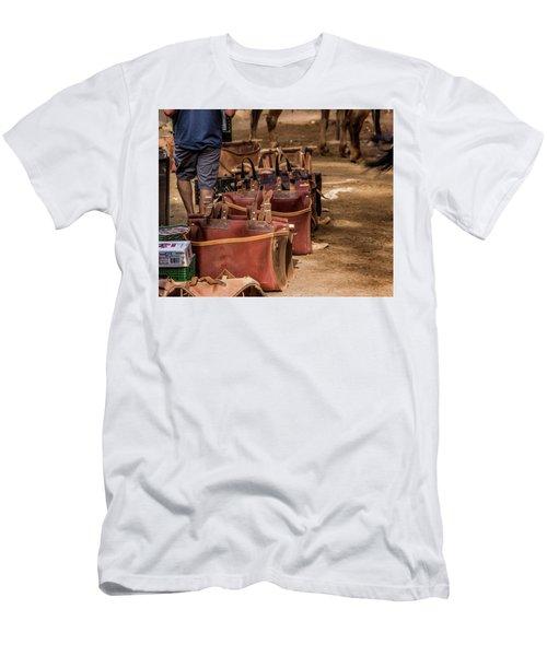 Unloading Mules At Phantom Ranch Men's T-Shirt (Athletic Fit)
