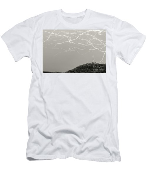 Unreal Lightning Men's T-Shirt (Athletic Fit)