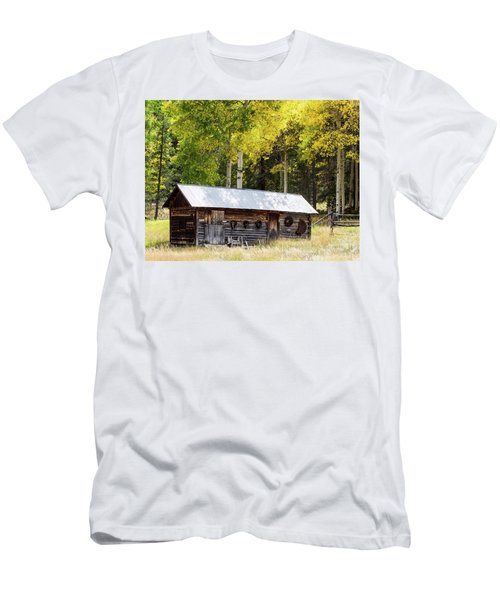 Uptop A Colorado Ghost Town Men's T-Shirt (Slim Fit) by Nadja Rider