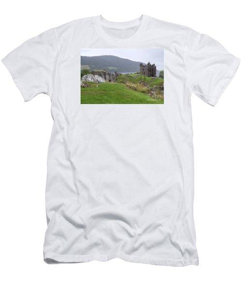 Urquhart Castle - Drumnadrochit Men's T-Shirt (Slim Fit) by Amy Fearn