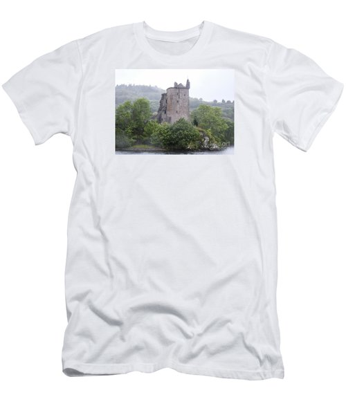 Urquhart Castle - Grant Tower Men's T-Shirt (Slim Fit) by Amy Fearn