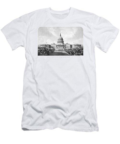 Us Capitol Building - Washington Dc Men's T-Shirt (Athletic Fit)