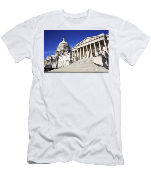 Us Capitol Up Close In Washington Dc Men's T-Shirt (Athletic Fit)