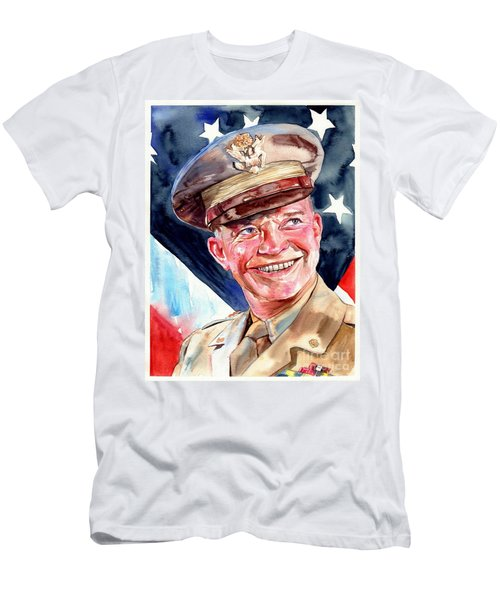 Us General Dwight D. Eisenhower Men's T-Shirt (Athletic Fit)