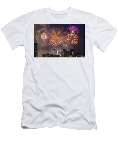 Usa 1 Men's T-Shirt (Slim Fit) by Ross G Strachan