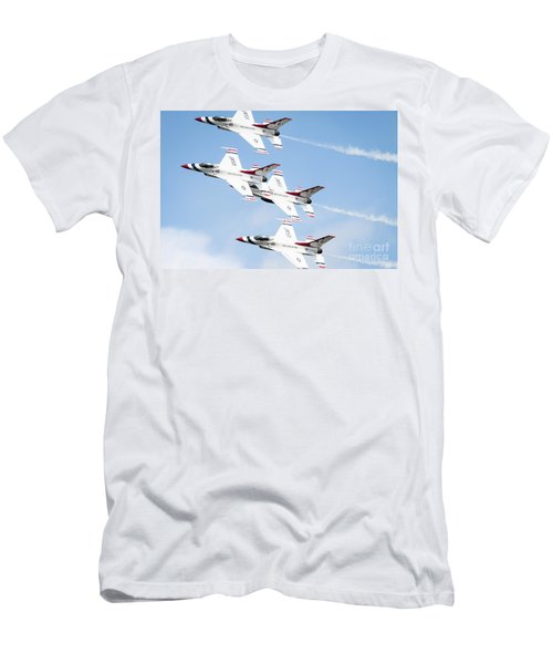 Usaf Thunderbirds Men's T-Shirt (Slim Fit) by Lawrence Burry